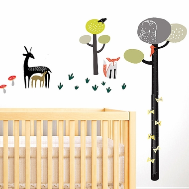 Wee Gallery Quiet Forest Growth Chart Wall Decal