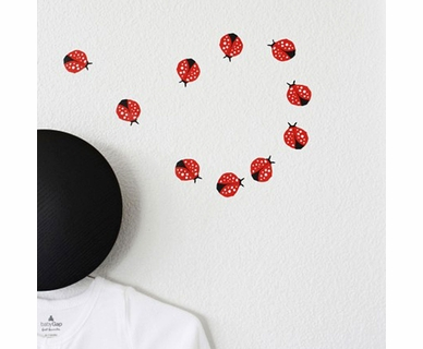 Wee Gallery Wee Cals Ladybugs Wall Decal