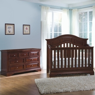 Westwood Design 2 Piece Nursery Set - Donnington Convertible Crib and Double Dresser in Virginia Cherry