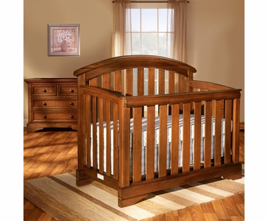 Westwood Design 2 Piece Nursery Set - Waverly Convertible Crib and Dressing Combo in Tuscan