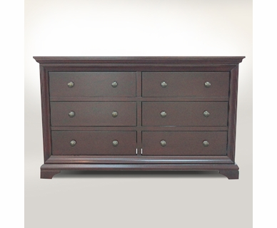 Westwood Design Brookline 6 Drawer Double Dresser in Chocolate Mist