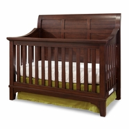 Westwood Design Hayden Convertible Panel Crib in Rough Sawn Espresso