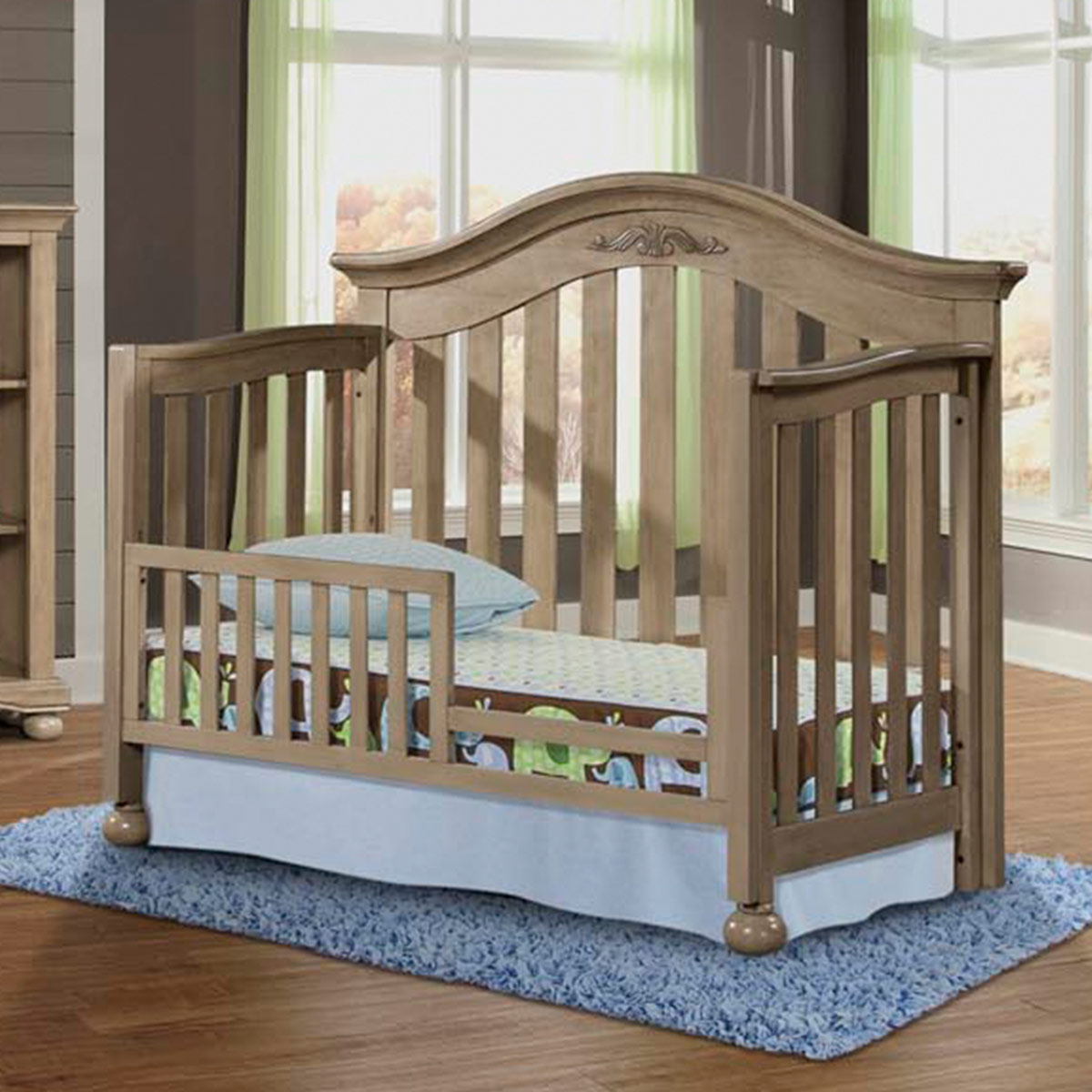 Westwood Design Meadowdale 3 Piece Nursery Set 4 In 1 Convertible Crib Double Dresser And 5 Drawer Chest Vintage Free