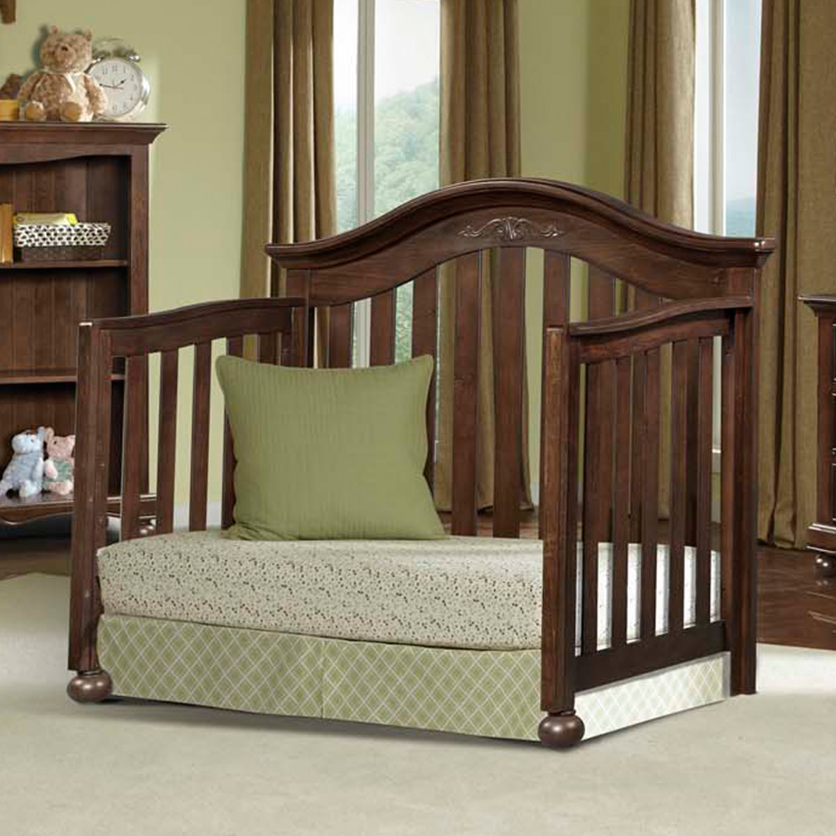 Westwood Design Meadowdale 2 Piece Nursery Set   4 In 1 Convertible Crib  And Double Dresser In Madeira FREE SHIPPING