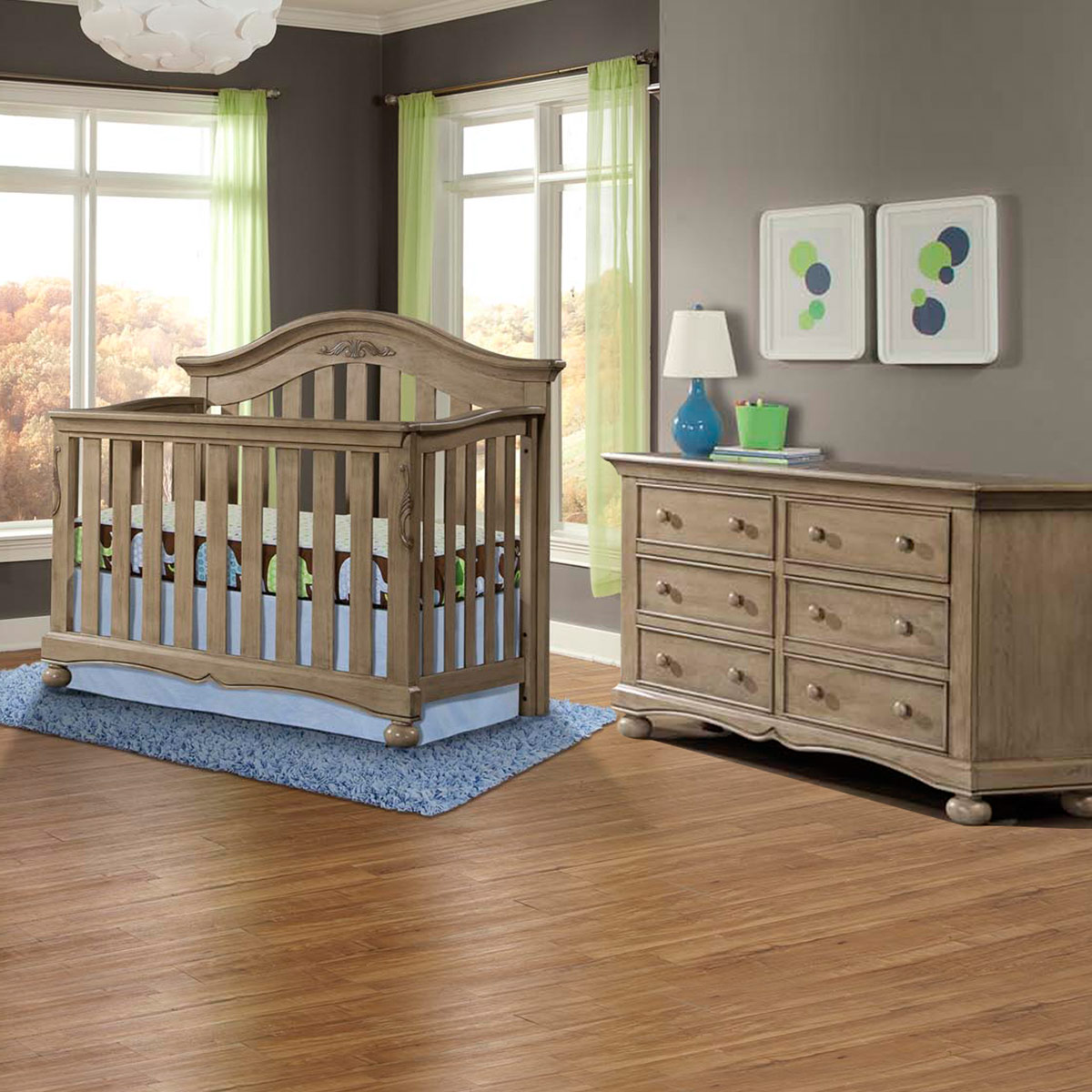 nursery shipping set vintage design meadowdale crib in convertible and westwood piece free double cribs dresser