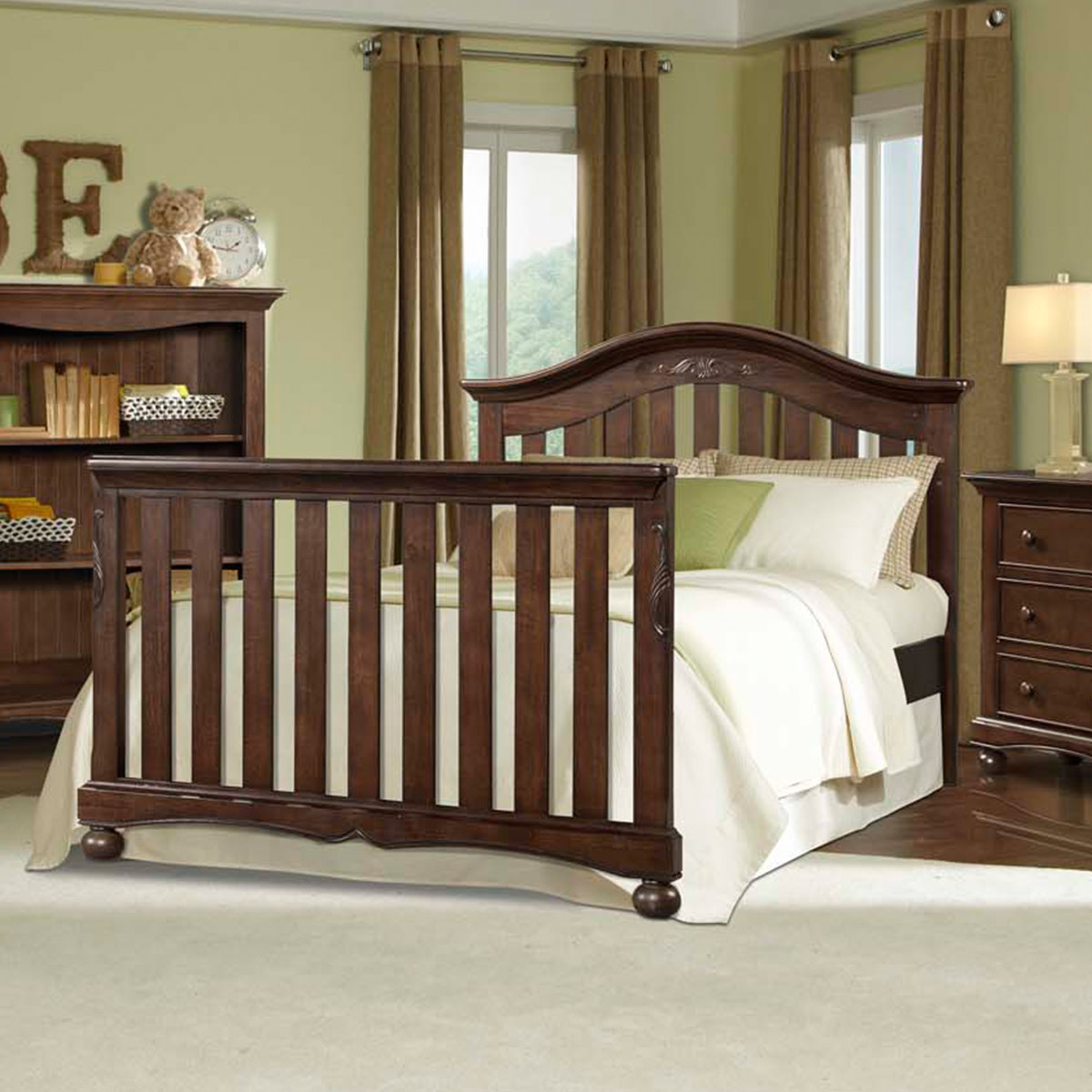 convertible crib pewter westwood brushed p design foundry cribs