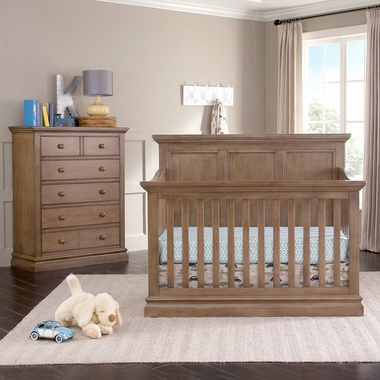Westwood Design Pine Ridge 2 Piece Nursery Set Convertible Panel Crib And 5 Drawer Chest