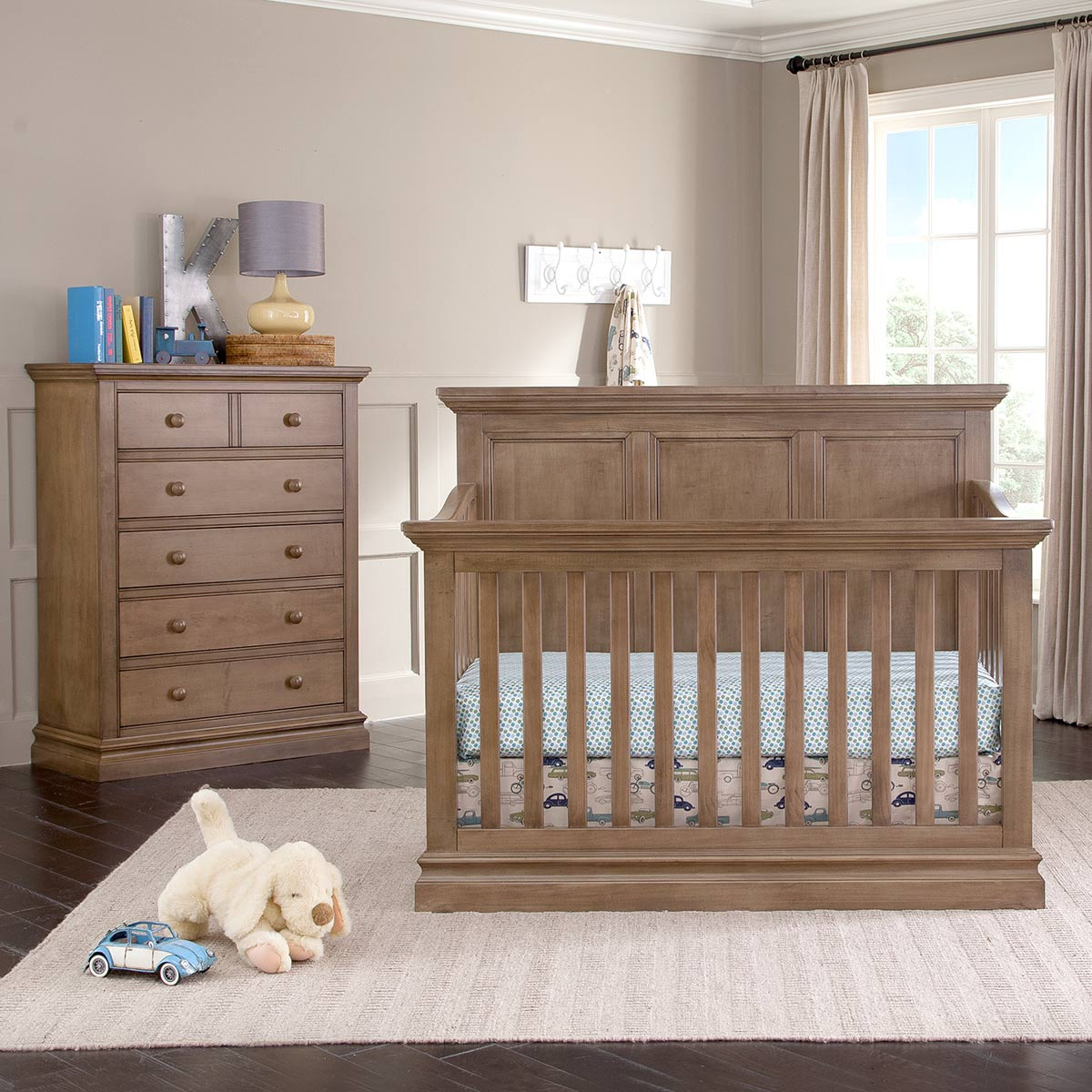 Westwood Design Pine Ridge 2 Piece Nursery Set   Convertible Panel Crib And  5 Drawer Chest In Cashew FREE SHIPPING