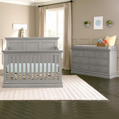 Westwood Design Pine Ridge 2 Piece Nursery Set   Convertible Panel Crib And  7 Drawer Dresser