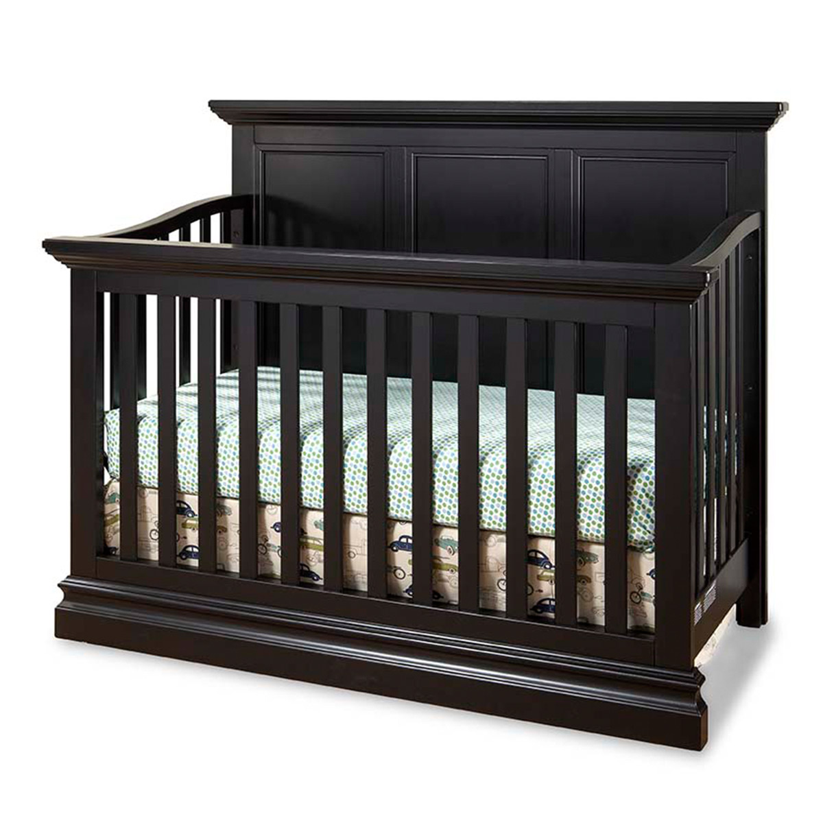 Westwood Design Pine Ridge 2 Piece Nursery Set Convertible Panel Crib And 7 Drawer Dresser In Black Free Shipping