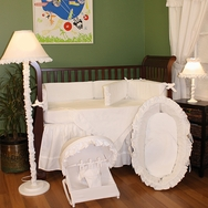 White Pique Crib Bedding Collection by Hoohobbers