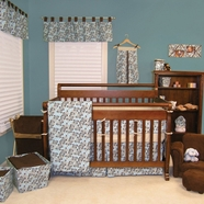 Willow Teal Crib Bedding Collection