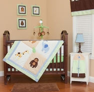 Zoo Babies Bedding Collection by Pam Grace Creations