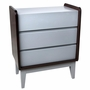 Zutano Tivoli 3 Drawer Dresser in Espresso & Cloud