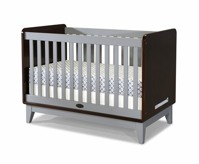 Zutano Tivoli Convertible Crib in Espresso & Cloud