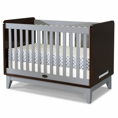 Zutano Tivoli Convertible Crib in Espresso & Cloud - Click to enlarge