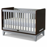 Zutano Tivoli Crib in Espresso and Cloud