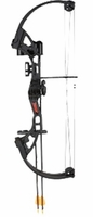 Bear Brave Youth Compound Bow Set Right Hand Black