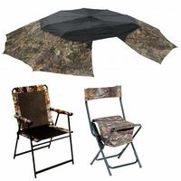 Chairs, Stools and Umbrellas