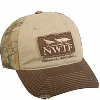 NWTF Logo Distressed Hat Realtree Xtra Camo