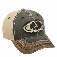 Outdoor Cap Company Mossy Oak Logo Distressed Cap