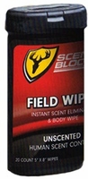 Scent Shield Field Wipes