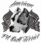 American Pit Bull Terrier Temporary Tattoo