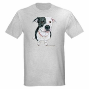 Black and White Pit Bull Tshirt