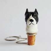 Black Pit Bull Wine Stopper (Head)