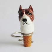 Brindle Pit Bull Wine Stopper (Head)