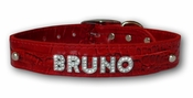 Croco Rhinestone Name Collar