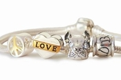 Peace Love and Pit Bulls Charm Bracelet (Cropped)