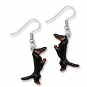 Dachshund Earrings (Black & Tan)