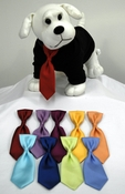 Dog Silk Loop Neck Ties