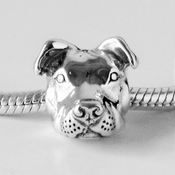 European Style Sterling Peaceful Pit Bull Charm