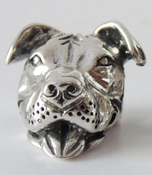 NEW! European Style Sterling Smiling Pit Bull Charm