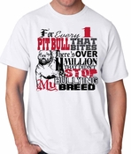 For Every One Pit Bull Men's Tshirt