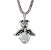 Pit Bull Angel Crystal Necklace