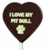 I Love My Pit Bull Chocolate Lollipop Mold