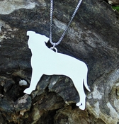 Pit Bull Profile Necklace