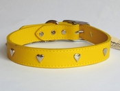Leather Heart Studded Collar (24inch)