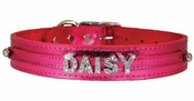 Metallic Rhinestone Name Collar