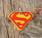 Mixed Metal Super Pooch Superman Tag