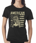 Patriotic Pit Bull Women's T-Shirt