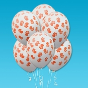 Pet Party Balloons with Paw Prints (Pack of 6)