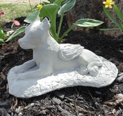 Pit Bull Angel Garden Statue (Cropped Ears)