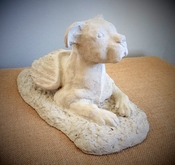Pit Bull Angel Garden Statue (Natural Ears)