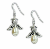 Pit Bull Angel Pearl Earrings