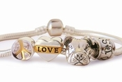 Peace Love and Pit Bulls Charm Bracelet (Peaceful)