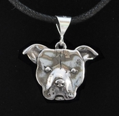 Pit Bull Face Necklace (Large)